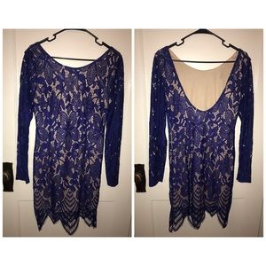 Charlotte Russe Eyelash Lace Dress! ONLY WORN ONCE